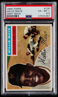 Baseball Cards:Singles (1950-1959), 1956 Topps Willie Mays (Gray Back) #130 PSA EX-MT+ 6.5....