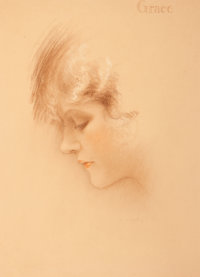 Charles Gates Sheldon (American, 1889-1960) Grace Pastel on board 21 x 16 in. Signed lower rig