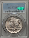 Peace Dollars, 1921 $1 MS65 PCGS. CAC....