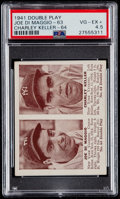 Baseball Cards:Singles (1940-1949), 1941 Double Play Joe DiMaggio/Charley Keller #63/64 PSA VG-EX+4.5....