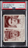 Baseball Cards:Singles (1940-1949), 1941 Double Play Ted Williams/Jim Tabor #57/58 PSA VG-EX 4....