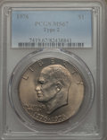 Eisenhower Dollars, 1976 $1 Type Two MS67 PCGS....