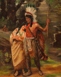 Paintings, W. H. Cox (American, 20th Century). Indian Couple, 1936. Oil on canvas. 20 x 16 in.. Signed and dated lower left. ...