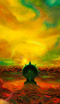 Other, Paul Lehr (American, 1930-1998). Orbs in Yellow. Acrylic on Masonite. 18.5 x 11 in. . Not signed. ...