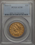 Liberty Eagles, 1844-O $10 AU50 PCGS. Variety 1....
