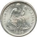 Seated Dimes: , 1886 10C MS66 PCGS. PCGS Population: (38/9). NGC Census: (51/10). Mintage 6,376,684. ...