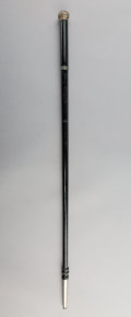 Decorative Arts, Continental, A Jeweler's Ring Sizer Walking Stick, late 19th century. 36 inches(91.4 cm).