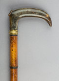 Other, A Horn Handled Alcohol Reservoir Walking Stick, late 19th century. 36 inches (91.4 cm). ...