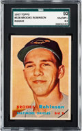 Baseball Cards:Singles (1950-1959), 1957 Topps Brooks Robinson #328 SGC 92 NM/MT+ 8.5 - None Higher....