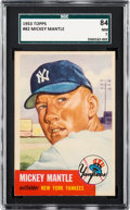 Baseball Cards:Singles (1950-1959), 1953 Topps Mickey Mantle #82 SGC 84 NM 7....