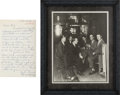 Baseball Collectibles:Photos, 1920's Lou Gehrig Signed Photograph with Letter of Provenance fromMark Koenig....