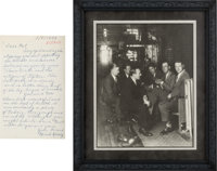 1920's Lou Gehrig Signed Photograph with Letter of Provenance From Mark Koenig