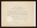 Football Collectibles:Others, 1961 LaVerne Dilweg Foreign Claims Settlement Commission Certificate Signed by John F. Kennedy....