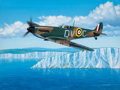 Fine Art - Painting, American:Contemporary   (1950 to present)  , Stan Stokes (American, 20th Century). Spitfire Mk-1a No. 19Squadron, Duxford, England Sept. 1940, 1989. Oil on canvas. ...