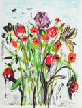 Fine Art - Work on Paper:Print, Jim Dine (American, b. 1935). Anemones. Lithograph incolors. 26-1/4 x 20-1/4 inches (66.7 x 51.4 cm) (sheet). Ed.57/20...