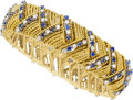 Estate Jewelry:Bracelets, Diamond, Sapphire, Gold Bracelet, Golay Fils & Stahl. ...
