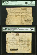 Colonial Notes:Mixed Colonies, Two Large Format Southern Colonials.. ... (Total: 2 notes)