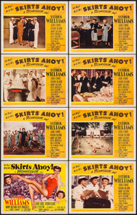 """Skirts Ahoy! (MGM, 1952). Lobby Card Set of 8 (11"""" X 14""""). Comedy. ... (Total: 8 Items)"""