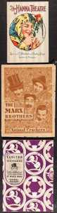 """Movie Posters:Comedy, Animal Crackers (Paramount, 1930). Herald (Folded: 7"""" X 9.25""""Unfolded: 14"""" X 9.25""""), & U.S. & British Theatre Programs(2) ... (Total: 3 Items)"""