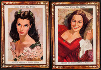 "Gone with the Wind (MGM, R-1968). Promotional Lobby Portrait Set of 4 (17"" X 23.25). Academy Award Winners. ... (To..."