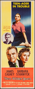 "Movie Posters:Drama, These Wilder Years (MGM, 1956). Insert (14"" X 36""). Drama.. ..."