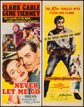 "Movie Posters:Adventure, Never Let Me Go & Other Lot (MGM, 1953). Inserts (2) (14"" X36""). Adventure.. ... (Total: 2 Items)"