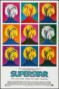 "Superstar: The Life and Times of Andy Warhol & Others Lot (Aries Films, 1991). One Sheets (3) (27"" X 41&quo..."