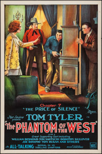 """The Phantom of the West (Mascot, 1931). One Sheet (27"""" X 41"""") Chapter 7-- """"The Price of Silence."""" Se..."""