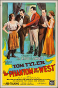 """Movie Posters:Serial, The Phantom of the West (Mascot, 1931). One Sheet (27"""" X 41"""").Chapter 5 -- """"The League of the Lawless."""" Serial.. ..."""