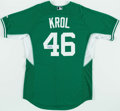 Baseball Collectibles:Uniforms, 2014 Ian Krol Game Issued Detroit Tigers St. Patrick's Day Jersey. ...