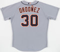Baseball Collectibles:Uniforms, 2008 Magglio Ordonez Game Issued & Signed Detroit Tigers Spring Training Jersey....