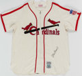 Autographs:Jerseys, Stan Musial Signed St. Louis Cardinals Jersey & Hat. ...