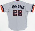 Baseball Collectibles:Uniforms, 1987 Frank Tanana Game Worn & Signed Detroit Tigers Jersey. ...