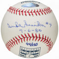 "Autographs:Baseballs, Duke Snider Single Signed Baseball - w/ ""7-6-80"" Inscription. ..."