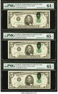 Error Notes:Ink Smears, Fr. 1975-H $5 1977A Federal Reserve Notes. Seven ConsecutiveExamples. . ... (Total: 7 notes)