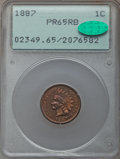 Proof Indian Cents: , 1887 1C PR65 Red and Brown PCGS. CAC. PCGS Population: (62/13). NGC Census: (48/15). CDN: $450 Whsle. Bid for problem-free ...