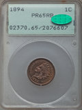 Proof Indian Cents: , 1894 1C PR65 Red and Brown PCGS. CAC. PCGS Population: (45/9). NGC Census: (43/11). CDN: $450 Whsle. Bid for problem-free N...
