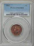 Proof Indian Cents: , 1865 1C PR64 Red and Brown PCGS. PCGS Population: (81/33). NGC Census: (37/39). CDN: $600 Whsle. Bid for problem-free NGC/P...