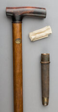 Decorative Arts, Continental, A Physician's Walking Stick, late 19th century. 34-1/2 inches (87.6cm).
