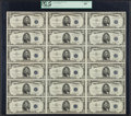 Small Size:Silver Certificates, Fr. 1655 $5 1953 Silver Certificates. Uncut Sheet of 18. PCGS Very Choice New 64.. ...