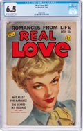 Golden Age (1938-1955):Romance, Real Love #41 (Ace Periodicals, 1951) CGC FN+ 6.5 Light tan tooff-white pages....