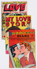 Golden Age (1938-1955):Romance, Comic Books - Assorted Golden Age Romance Comics Group of 10(Various Publishers, 1950s) Condition: Average VG.... (Total: 10Comic Books)