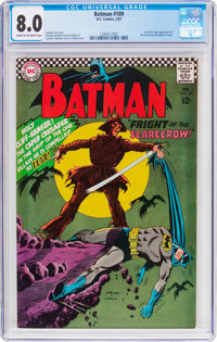 Batman #189 (DC, 1967) CGC VF 8.0 Cream to off-white pages