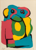 Fine Art - Work on Paper:Print, Karel Appel (Dutch, 1921-2006). Figure composition.Lithograph in colors. 14-1/2 x 10-3/8 inches (36.8 x 26.4 cm)(sight...