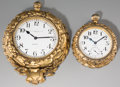 Clocks & Mechanical:Clocks, Two Edward F. Caldwell & Co Gilt Bronze Desk Clocks, late 19th-early 20th century. Marks: (various). 6 inches high x 4-3/4 i... (Total: 2 Items)