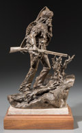 Fine Art - Sculpture, American:Contemporary (1950 to present), Clyde Doney (American, 20th Century). Grizzly Trapper, 1976.Bronze with brown patina. 11-1/2 inches (29.2 cm) high on a...