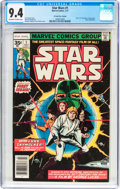 Bronze Age (1970-1979):Science Fiction, Star Wars #1 35 Cent Price Variant (Marvel, 1977) CGC NM 9.4 Off-white to white pages....