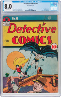 Detective Comics #48 (DC, 1941) CGC VF 8.0 Off-white pages