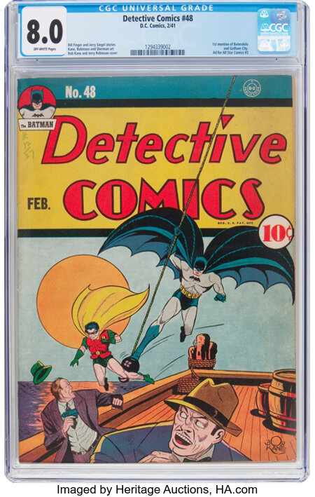 Detective Comics #48 (DC, 1941) CGC VF 8.0 Off-white pages....