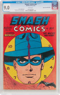 Golden Age (1938-1955):Superhero, Smash Comics #45 Mile High Pedigree (Quality, 1943) CGC VF/NM 9.0 White pages....